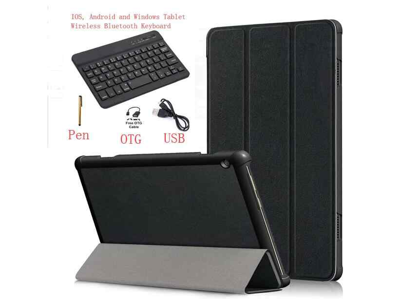 "Bluetooth keyboard Case for Lenovo Tab4 TAB 4 10 Plus TB-X704F TB-X704N TB-X704L 10.1"" tablet Keyboard PU Leather Cover + Pen"