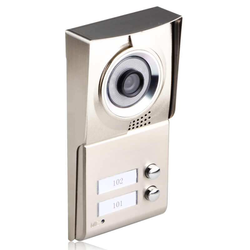 Image 2 - MAOTEWANG 7inch LCD 2 Apartments Video Door Phone Intercom System HD 1000TVL Doorbell Camera-in Video Intercom from Security & Protection