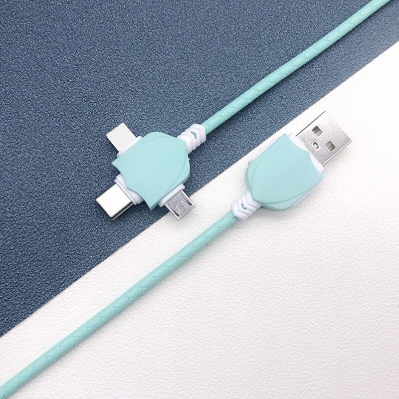 Универсальный 3 в 1 USB зарядный кабель для iPhone Andriod USB Type C Micro USB кабель для iPhone 6 7 8 X Кабель для передачи данных для мобильного телефона