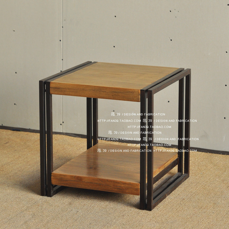 American French Loft Wood Furniture Coffee Table Industry Do The - Old fashioned side table