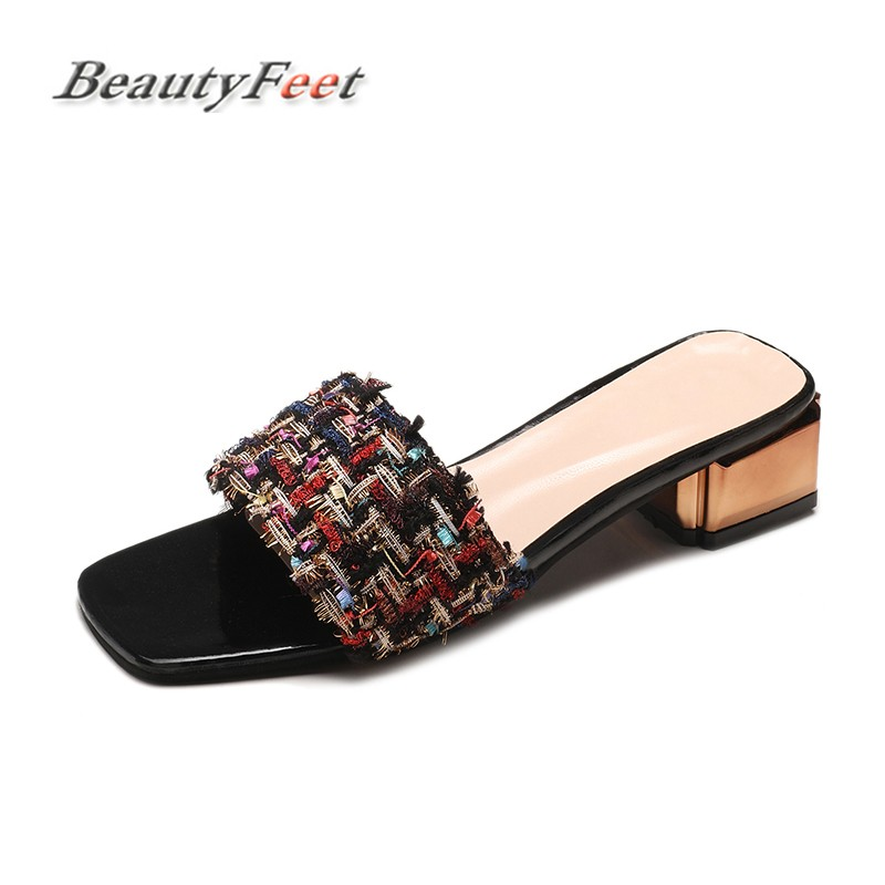 Summer Slippers Women Shoes Woman Beach Slippers Colorful Fashion Flip Flops Mules Jelly Ladies Shoes Female Slides BeautyFeet цена