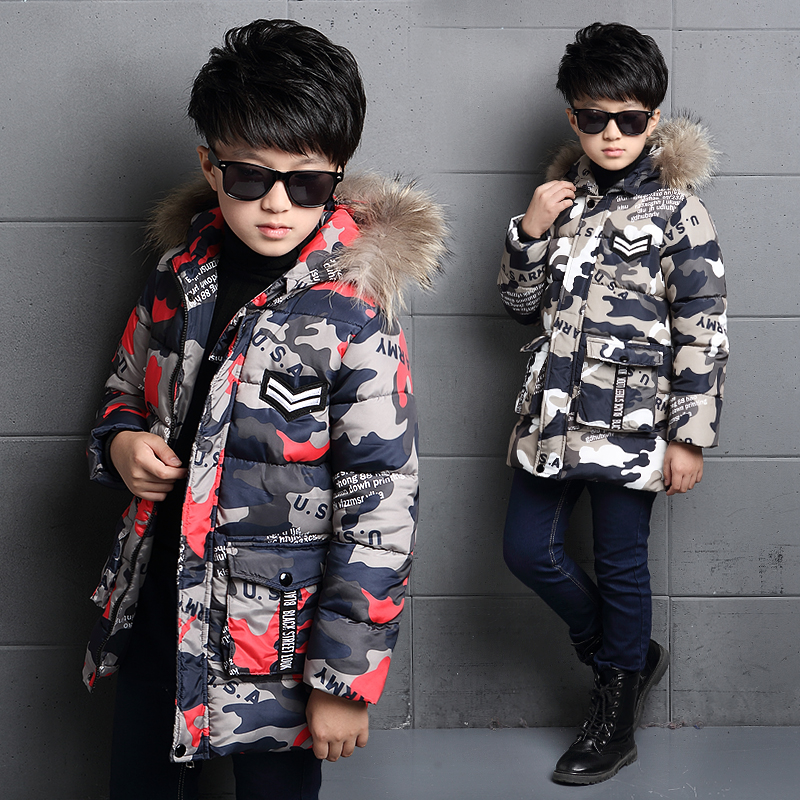 The boy's coat thick winter coat winter children children 2017 new long Mianfu in cotton padded jacket lucky panda 2016 woman winter cotton thickened slim slim down in the long coat coat of students lkb186