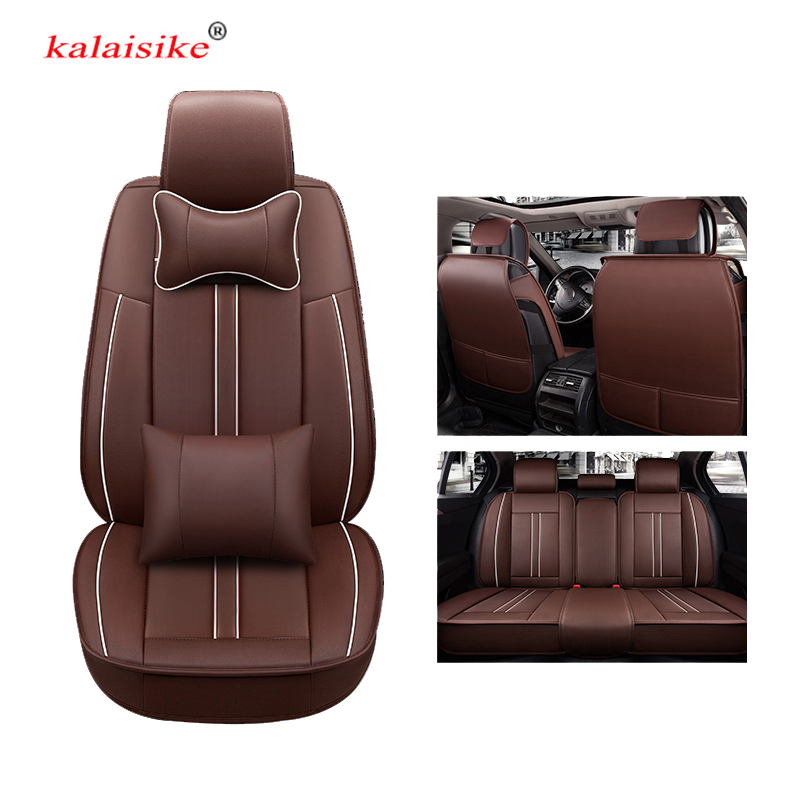 kalaisike universal leather car seat covers for Mercedes Benz all models E C GLA CLA CLK SLK G CLS S A B GLS GLE GL ML GLK class protective flip open pu leather case w stand card slots for samsung note 3 n9000 brown