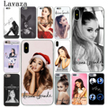 Lavaza Cat Ar Ariana Grande Hard Cover Case for Apple iPhone X XS Max XR 6 6S 7 8 Plus 5 5S SE 5C 4S 10 Phone Cases 7Plus 8Plus