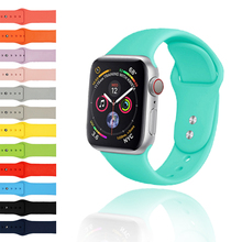 купить FASTEN Replacement Watch Strap for iWatch Colorful Sport Band for Apple Watch Series Soft Silicone Apple Watch Bands 38mm дешево