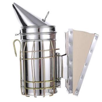 Manual de Aço inoxidável Fumaça Abelha Transmissor Kit Ferramenta Apicultura Apicultura apicultura Ferramenta Apicultura Fumante Abelha