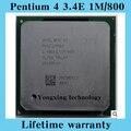 Pentium 4 3.4E 1 м 800 3.4 ГГц P4 3.4 настольных процессоров 3.40 шт. процессорный сокет 478 контакт. компьютер