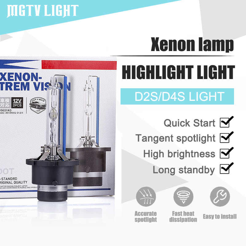 MGTV LIGHT 2Pcs Car HID Xenon Headlight Bulb Kit D2S D4S 35W Ultra Bright Car Xenon Headlamp Fog Lamp 4300K 6000K 8000K 10000K