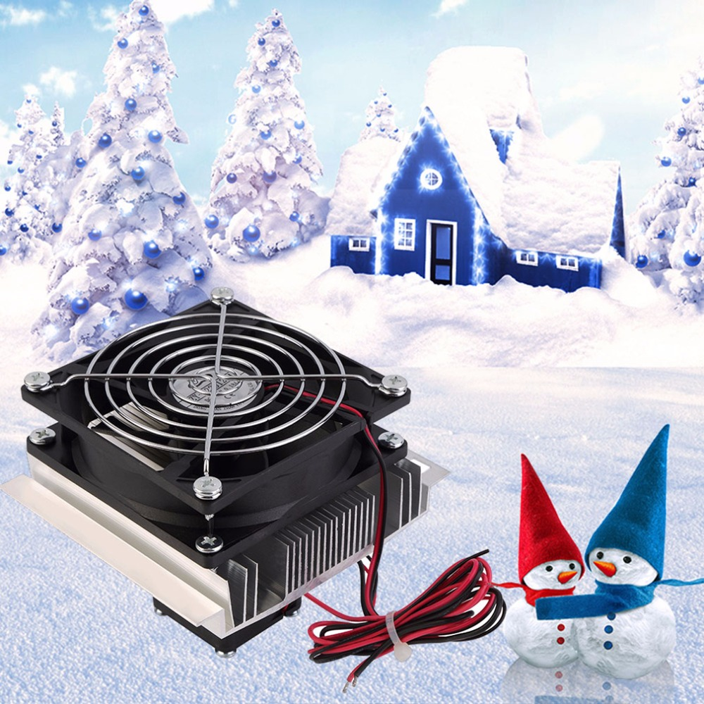 Thermoelectric Peltier 60W Cooler Refrigeration Semiconductor Cooling System Kit Cooler Fan Finished Set for Computer CPU Hot thermoelectric peltier refrigeration cooling cooler fan system heatsink kit