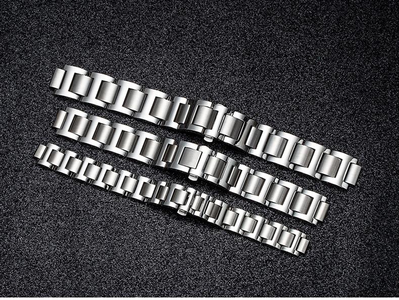 relógio de aço inoxidável ajuste cartier pulseira