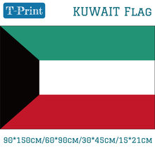 The State of Kuwait National Flag 60*90cm 90*150cm 15*21cm 3ft*5ft Banners Brass Grommets 30*45cm Car Flag(China)