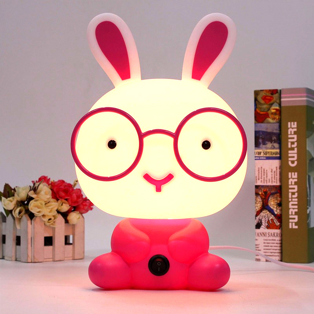 Aliexpress.com : Buy Cartoon Animal Night Lamp Panda Bunny LED ...