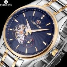 2016 FORSINING Китай бренда мужские часы платье автоматическая самостоятельная ветер смотреть черный tourbillion наберите импортные 316L стальной браслет