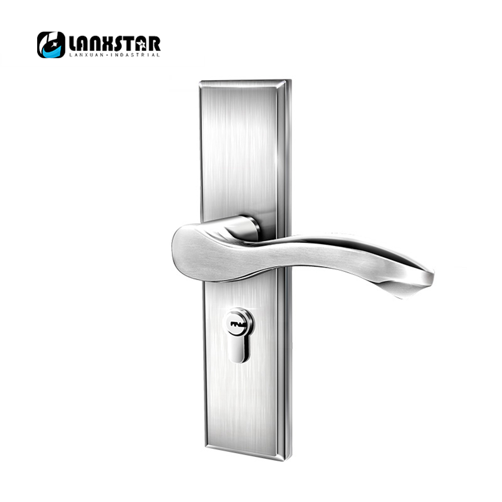 High Quality 304 Stainless Steel Interior Wood Door Handle-lock CC50mm Design Lockbody Anti Insert Handle Locks europe standard 304 stainless steel interior door lock small 50size bedroom big 50size anti shelf strength handle lock