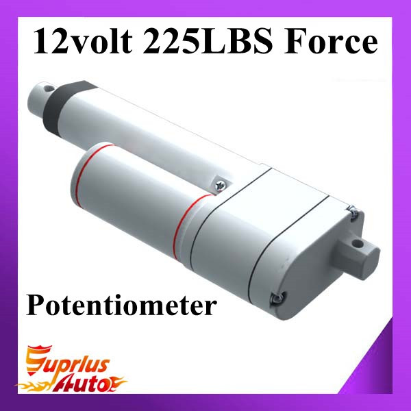 Free Shipping 12/ 24V 1inch/ 25mm Stroke Linear Actuator With Potentiometer 225lbs/ 1000N Force Electric Linear Actuator