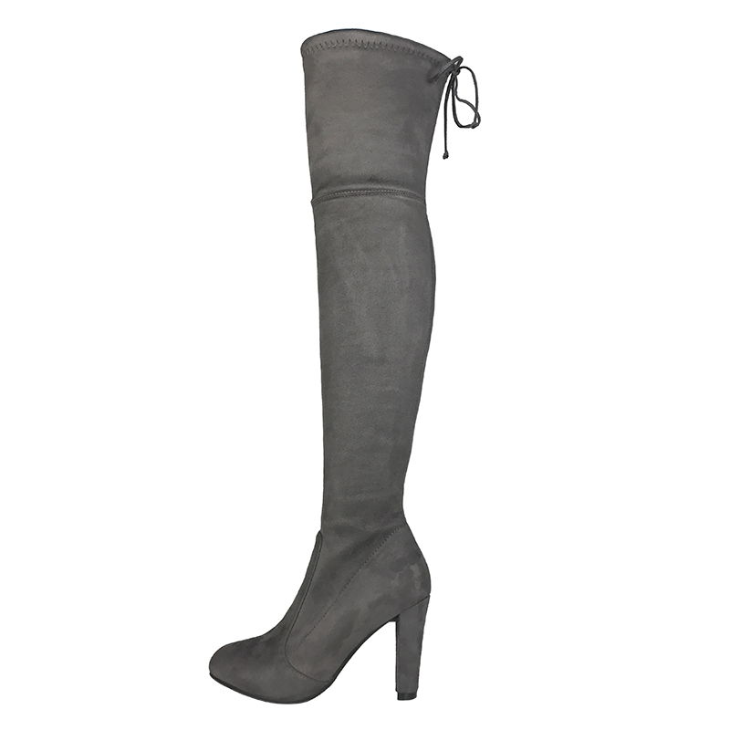 Thigh High Boots Stretch Picture - More Detailed Picture About Top Faux Suede Women -4314