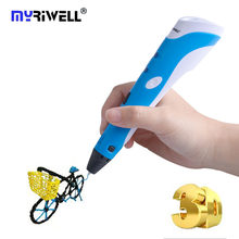 Myriwell Factory 3d Pen 3d Drawing Printer Pen with 100M ABS Filament 1.75mm Pens 3d model for KIDS Magic 3D Pens Best Gifts(China)