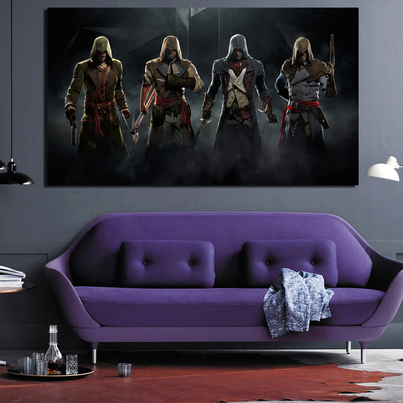 Assassins Creed Unity Dead Kings Arno Canvas Painting Living Room Home Decoration Modern Wall Art Oil Painting Posters Pictures image