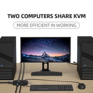 Image 5 - Unnlink 2 יציאות HDMI KVM מתג עם Extender 4K 1080P USB2.0 שיתוף מדפסת צג מקלדת עכבר עבור 2 מחשבים מחשבים ניידים ps4