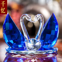 Swan crystal ornaments to send friends wedding gift premium bestie wedding gift creative personality engagement gift.
