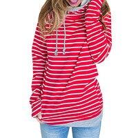 Big Size Russian Women Striped Autumn Winter Hoodies Sweatshirts 2017 Casual Long Sleeve Large Size Sweatshirt Plus Size S 3XL