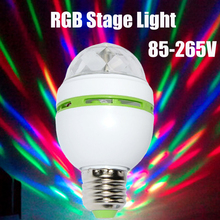 AC85-265V RGB 3w/Red/Blue/Green 1w Led Spotlight Auto Rotating Stage Light For Holiday KTV Bar Disco Party Led Bulb Lamp