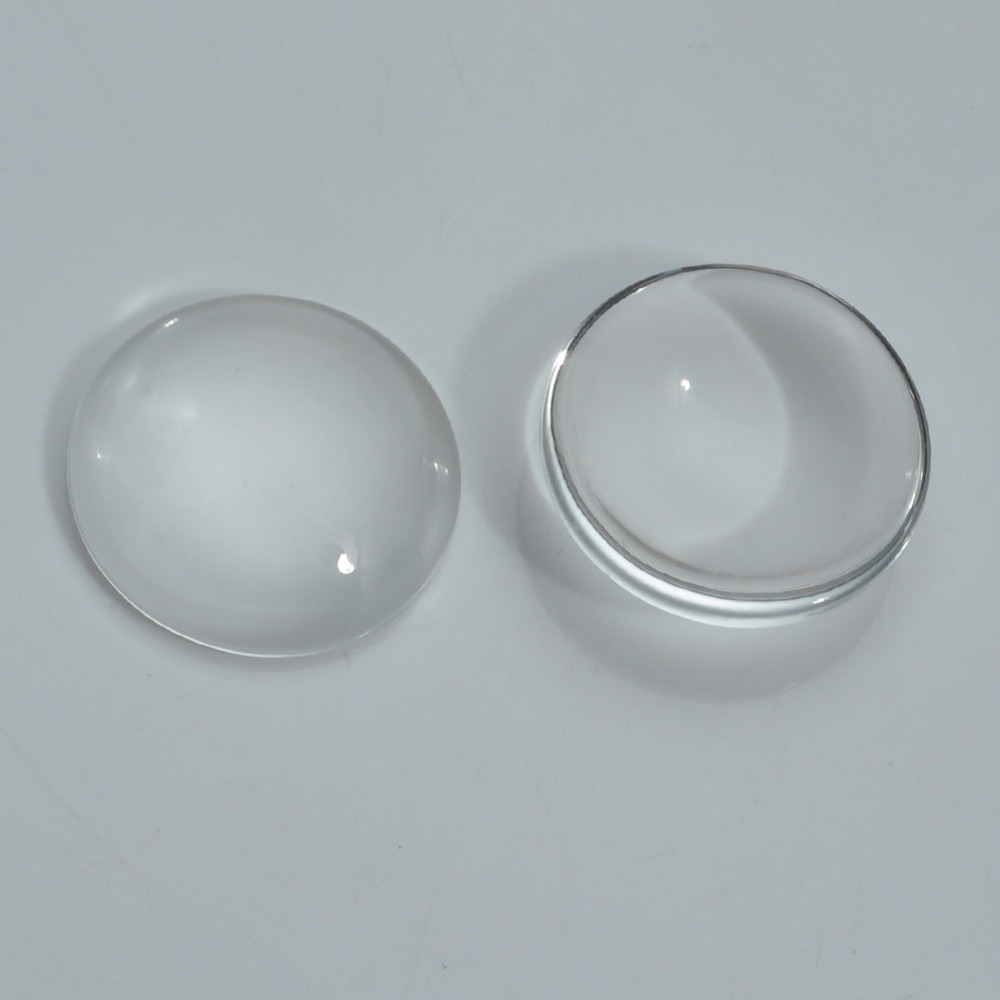 20mm 25mm 30mm Clear Transparent Flat Clear Round Domed Magnifying Glass Cabochon Inserts Tray Pendants Cover DIY Crafts
