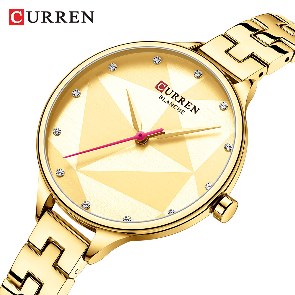 CURREN Classy Quartz Watches Women Creative Design Wristwatch With Stainless Steel Female Clock Ladies Dress Bracelet Watch