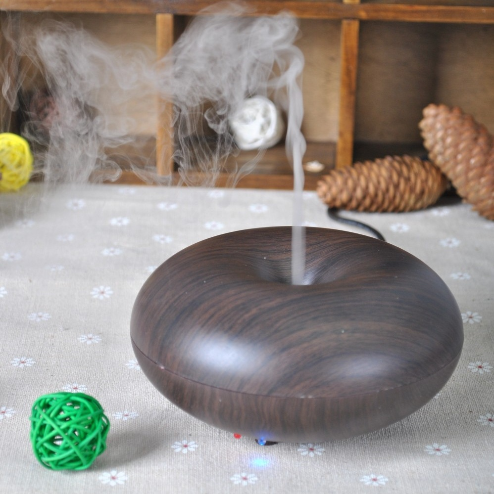Ultrasonic Aroma Diffuser Air Humidifier Dark Wood Humidifier Mini Aroma Diffuser Cool Mist Air Humidifier Wood GrianUltrasonic Aroma Diffuser Air Humidifier Dark Wood Humidifier Mini Aroma Diffuser Cool Mist Air Humidifier Wood Grian