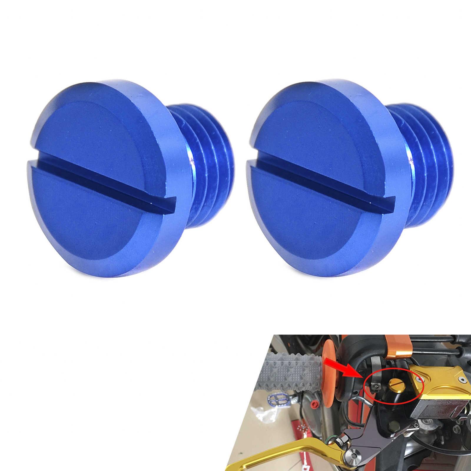 2 Pcs M10 * 1.25 Kiri Tangan Kanan Ulir Cermin Hole Plug Baut Sekrup untuk Yamaha FZ09 FZ07 MT07 MT09 MT25 MT03 Tracer900 XSR900