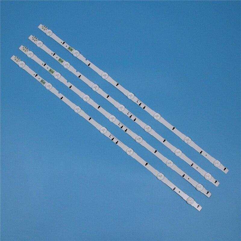 4 pièces LED barres de rangée pour Samsung UA32J5100AR UA32J5100AJ UA32J5100AK 32 pouces TV rétro-éclairage LED bande de lumière lampes matricielles bandes