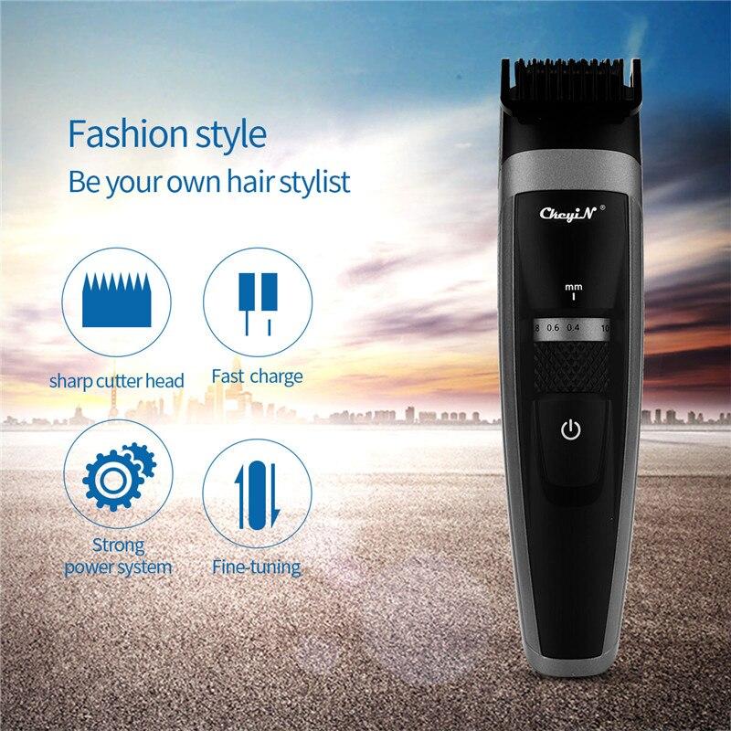 Kemei tondeuse à cheveux électrique Rechargeable tondeuse rasoir rasoir sans fil 0.8-2.0mm réglable à faible bruit pour adulte/enfant 43