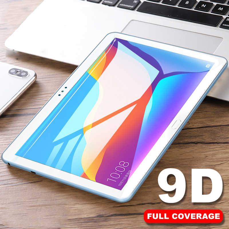 لهواوي MediaPad M5 لايت برو 10.8 8.4 M3 لايت 10.1 8 واقي للشاشة 9D منحني المقسى زجاج عليه طبقة غشاء رقيقة ل MediaPad T5 T3 10