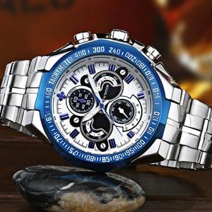 Image 4 - Часы WWOOR Мужские Наручные с большим циферблатом, брендовые Роскошные модные, из нержавеющей стали, 2019