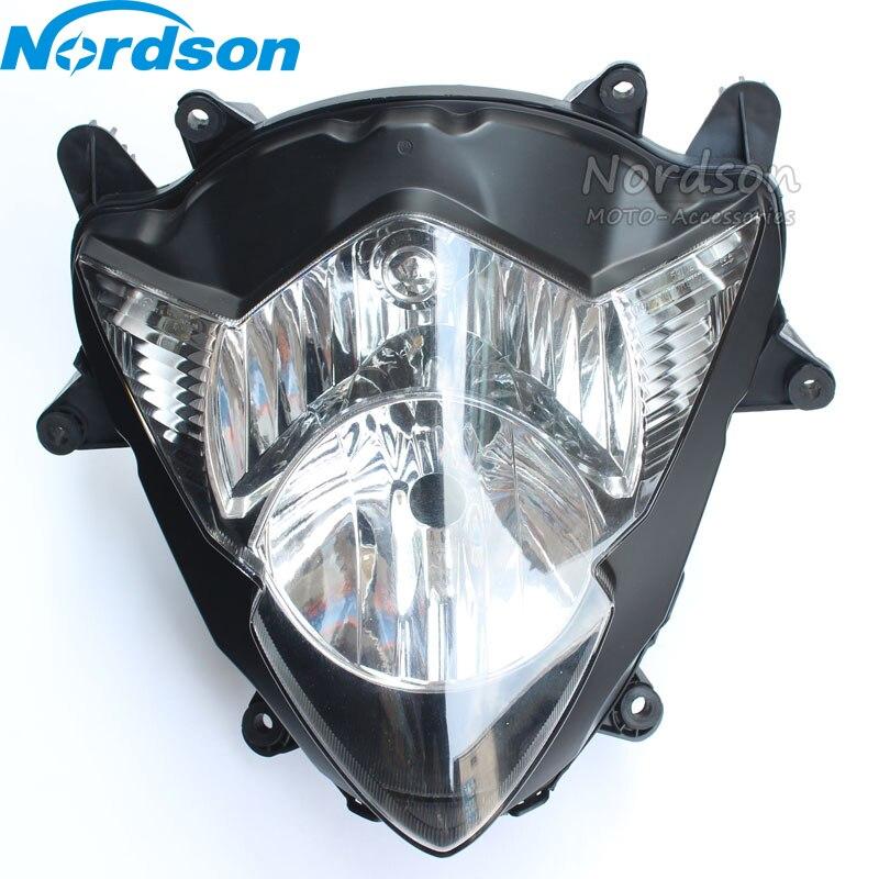 Neuf de Haute Qualité noir Moto Phare Assemblée Effacer et Projecteur Lumineux Pour Suzuki 2005-2006 GSXR1000 GSX-R1000 05 06 K5