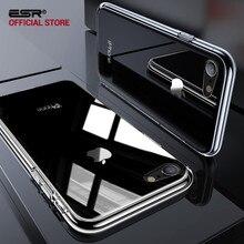 ESR 9 H жесткий закаленное стекло чехол для iPhone 8 7 Plus сумки-Чехлы для телефона Жесткий ПК база + Мягкий ТПУ рамки для iPhone 7 8 Стекло чехол