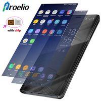 For Samsung Galaxy Note 8 Samsung Note 8 Case Luxury Flip Stand Clear View Smart Mirror