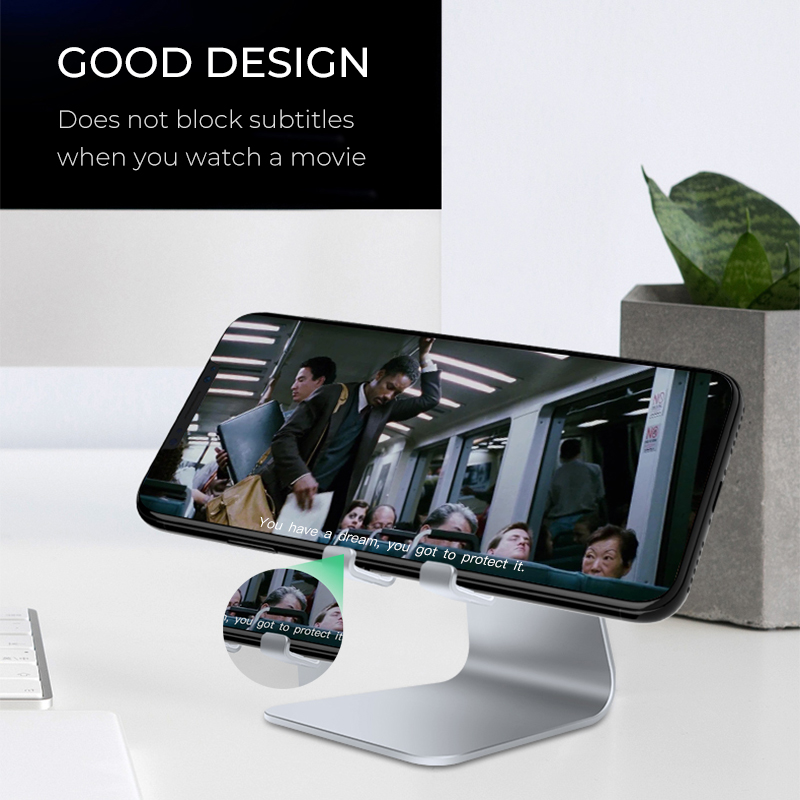 QIIHII Desk Mobile Phone Holder Metal Cell Phone Holder For iPhone X XS MAX 8 7 6 Phone Stand Desk For Samsung Xiaomi Huawei in Phone Holders Stands from Cellphones Telecommunications