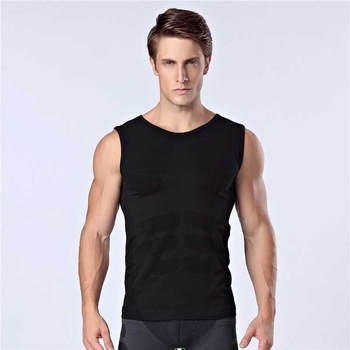 Men Pro Quick Dry GYM Tank Compress T-shirt Fitness Exercise Top Sport Run Vest Workout Tee Yoga Beach Basketball Plus Size MA10 1