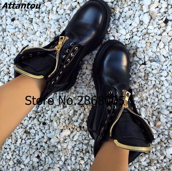 2017 Fall Winter Fashion PU Leather Suede Ankle Boots Metal Grommets Zip Motorcycle Booties Women Stylish Flats Short Boots 2017 genuine leather women ranger boots famous designer motorcycle fashion work brand shoes zip front design ankle short booties
