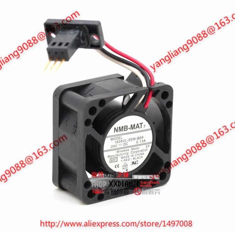 NMB-MAT 1608VL-05W-B69, BR1 DC 24V 0.13A, 40x40x20mm Server Square fan купить недорого в Москве