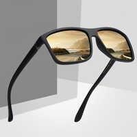 DAVE classique lunettes De soleil polarisées hommes femmes marque De luxe Design carré cadre lunettes De soleil homme conduite lunettes Gafas De Sol UV400