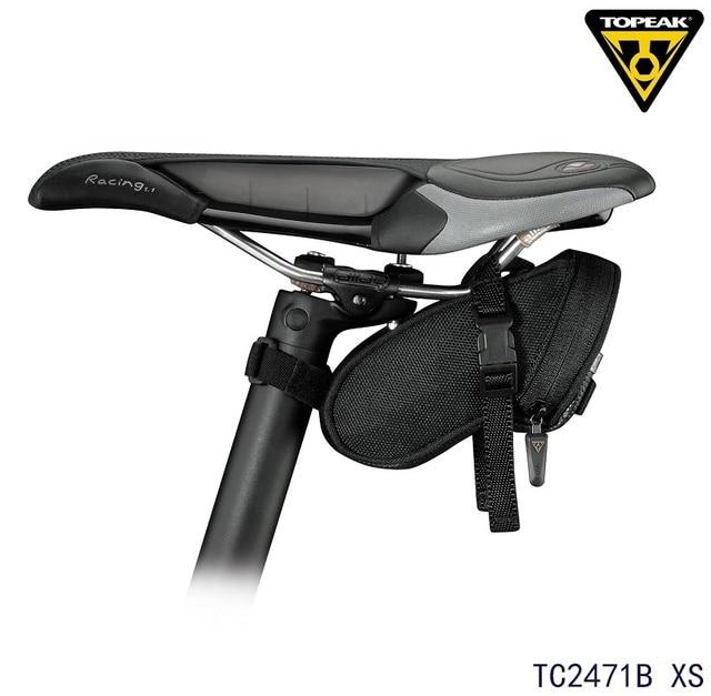 77327503871 Topeak TC2471B bolsa de asiento de bicicleta pequeña Original Aero cuña  Paquete de sillín QR Correa