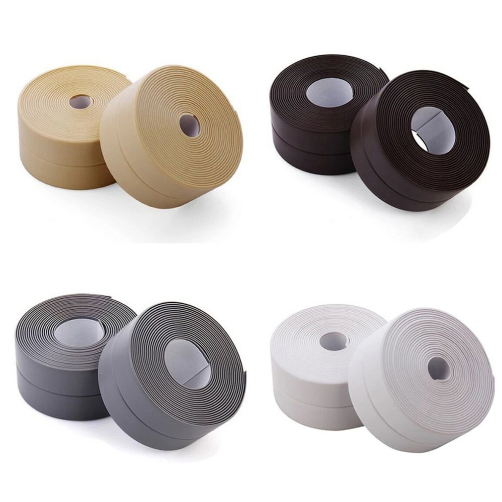 PVC 3.2 Meters Waterproof Mildew Proofing Adhesive Tape Kitchen Sink Joint Crevice Sticker Bathroom Corner Line Sticking StripPVC 3.2 Meters Waterproof Mildew Proofing Adhesive Tape Kitchen Sink Joint Crevice Sticker Bathroom Corner Line Sticking Strip