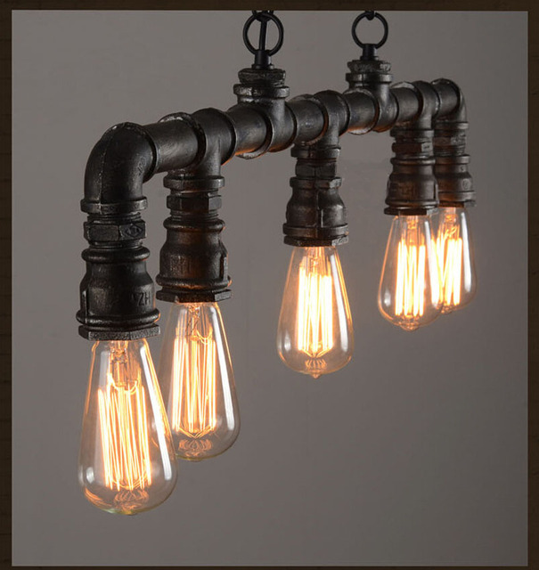 Led Pendant Light Industrial Lighting Kitchen Pendant Lamp Copper Pipe Lamp  Soundlights Housing Antique Hanging Lamp