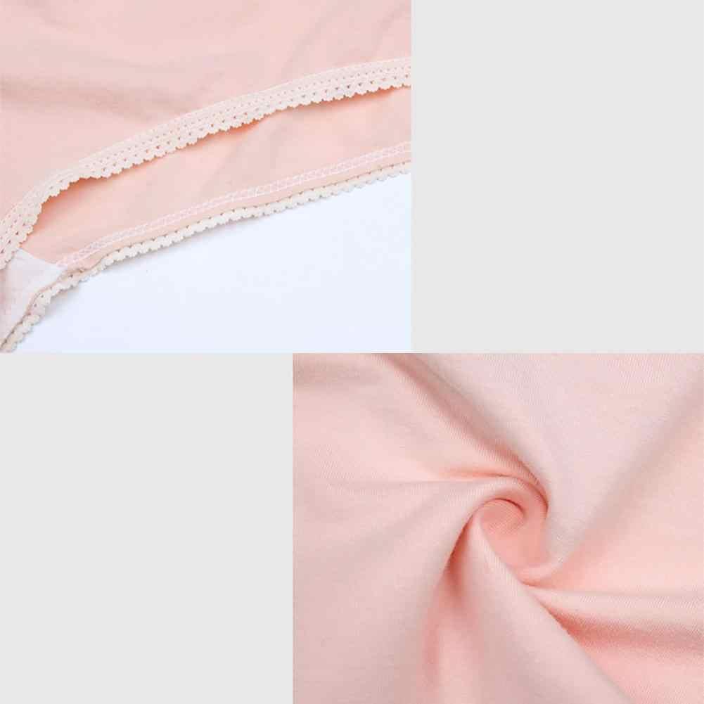 การ์ตูนระบายอากาศได้เอวสูงกางเกงกางเกงในท้องหญิงตั้งครรภ์ชุดชั้นในผ้าฝ้ายน่ารัก