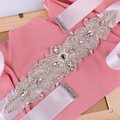 TOPQUEEN S26 FREE SHIPPING New Arrival Elegant Crystal Bridal Sash Rhinestone Wedding Party Bride Bridesmaid Belt  Wedding Sash