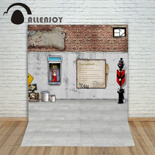 Allenjoy background for photos Street-side camera brick wall envelopes children's photographic camera backdrop vinyl