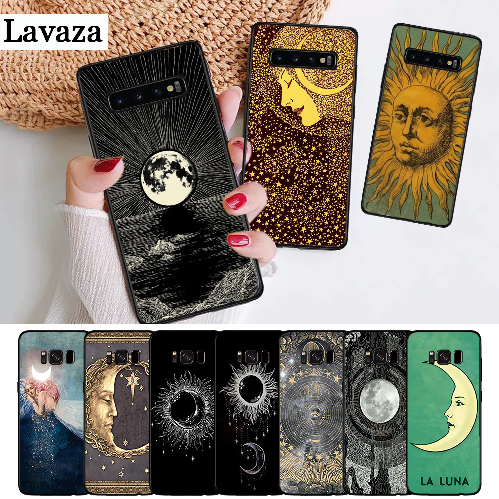 Half-wrapped Case Phone Bags & Cases Lavaza Sun And Moon Black Silicone Case For Samsung S6 Edge S7 S8 Plus S9 S10 S10e Note 8 9 M10 M20 M30 Lustrous