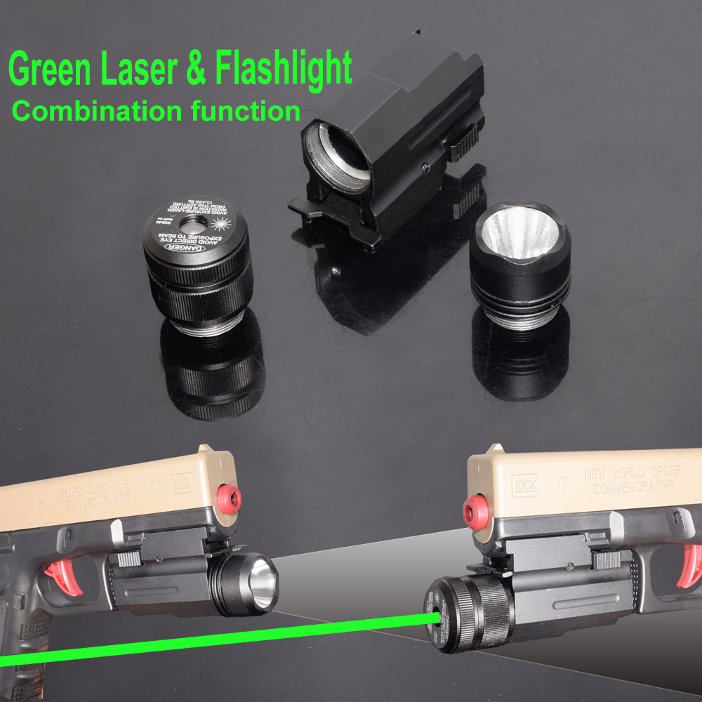 WIPSON Tactical Red Green Dot Laser Sight com 200LM CREE LED Flashlight Combo 2em1 com Controle Remoto Controlador de Pistola Rifle